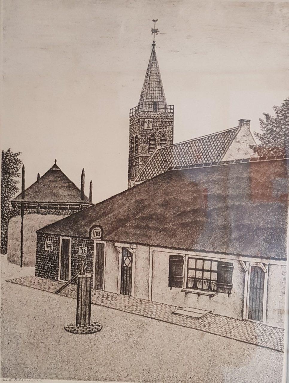Oud Blaricum Boerderij Grafiek